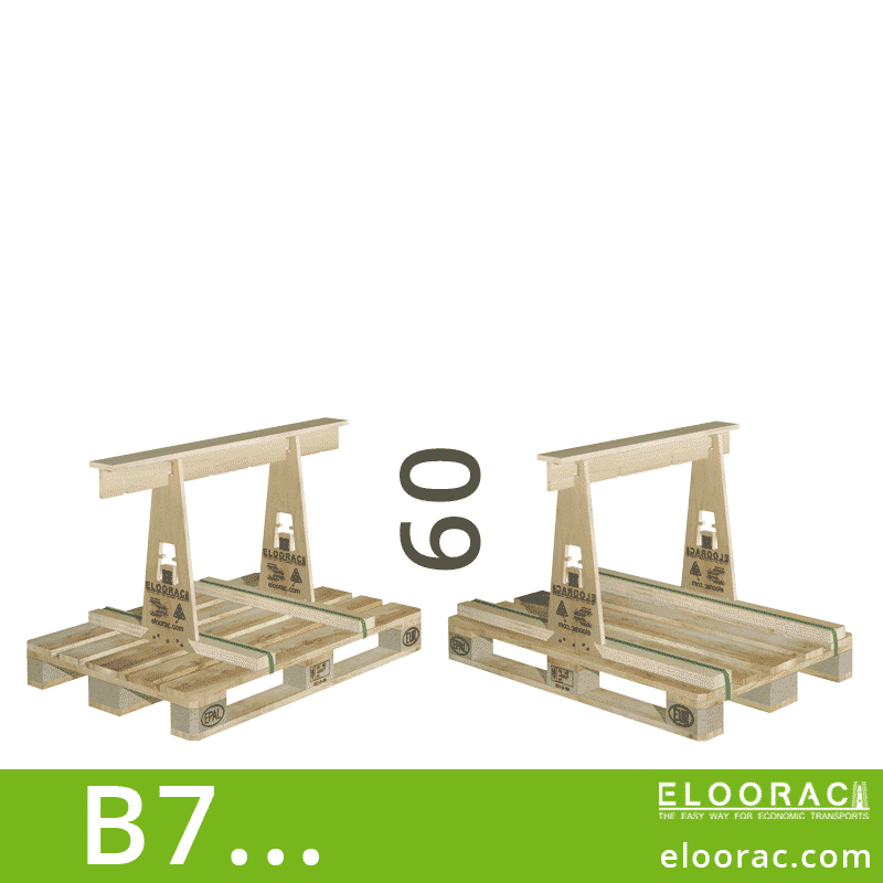Eloorac Transport Gestell B7... Genutzt wird dieses Rack für den Transport von Naturstein, Granit, Marmor, Arbeitsplatten und vor allem für Glas. Also ein Transportbock für niedrige aber flache Produkte.