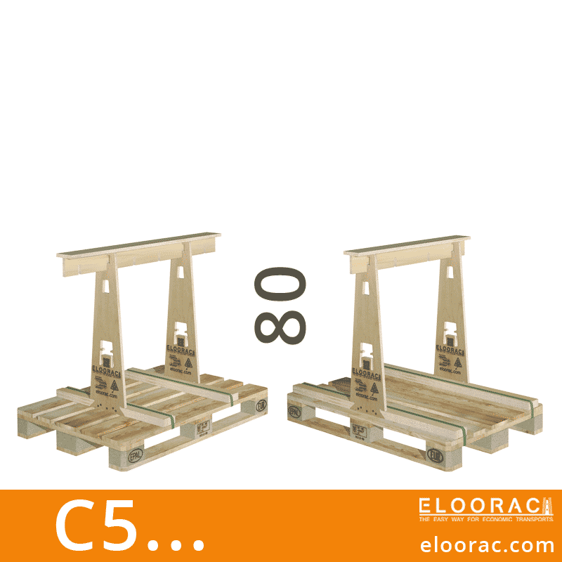 Eloorac Transport Gestell C5... Genutzt wird dieses Rack für den Transport von Naturstein, Granit, Marmor, Blech, Holzplatten, Arbeitsplatten und vor allem für Glas. Also ein Transportbock für niedrigere und flache Produkte.