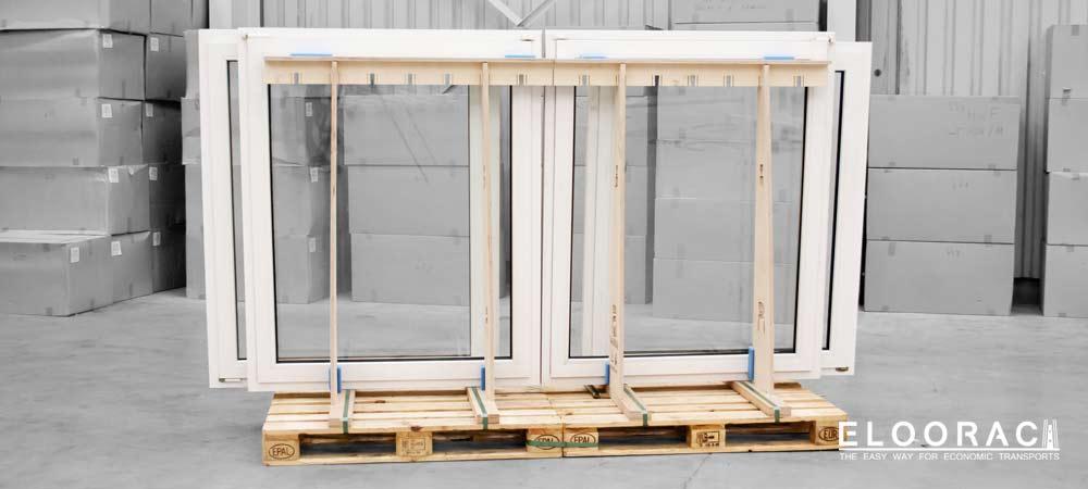 Eloorac Transportgestelle sind individuell in der Länge anpassbar und passen nicht nur auf Europaletten.