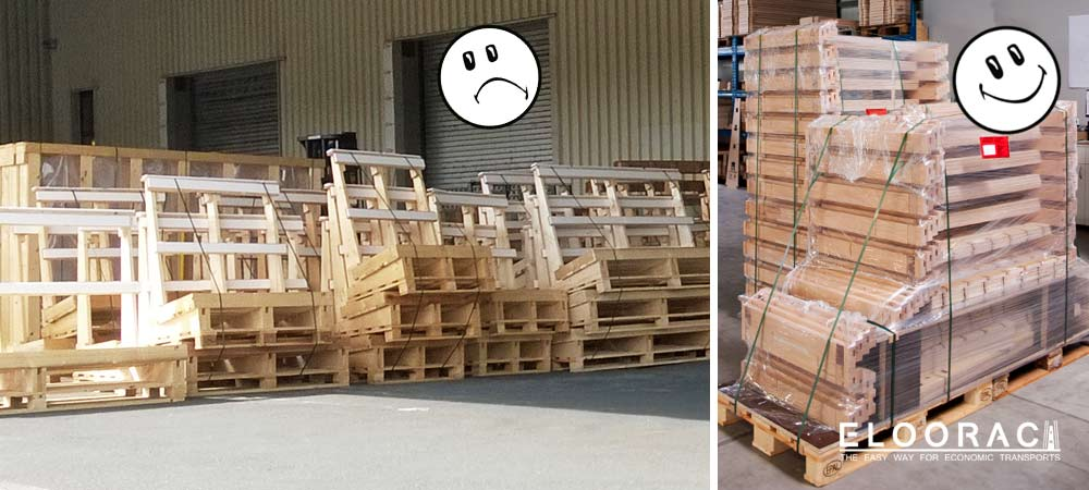 Glass transport rack & A-frames, individually combinable