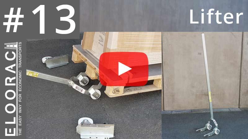 In diesem Video zeigen wir wie man mit dem Lifter von Eloorac eine Europalette so anhebt, dass Eloowheel Rollen von Eloorac an Paletten montiert werden können. Der Lifter ist ein sehr nütziliches Tool welches hier einen Hubwagen bzw. einen Stapler ersetzt. Cool ist, dass der Lifter zerlegt werden kann und somit platzsparend in jedem Montagefahrzeug untergebracht werden kann.