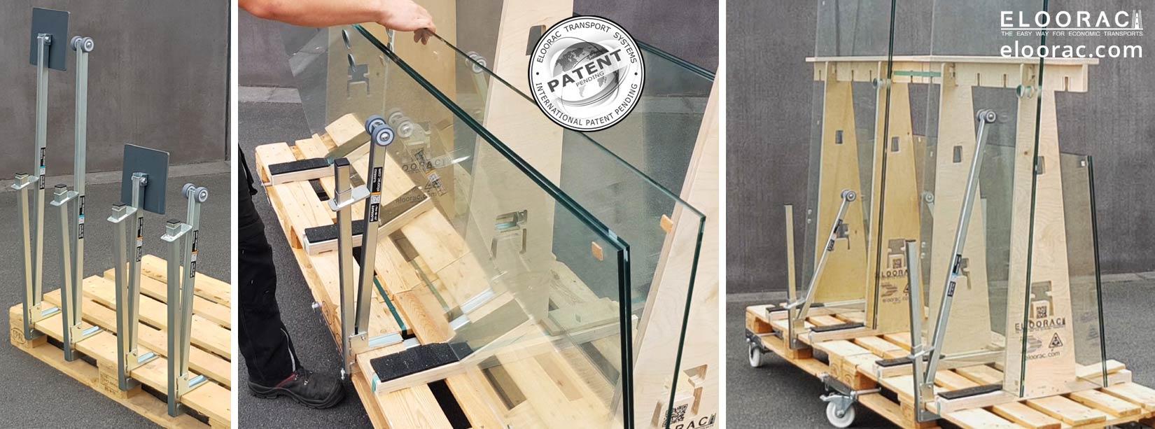 Eloosafe Spannklemme Glassicherungs Klemme von Eloorac für Europaletten, EPAL oder anderen Holz Paletten