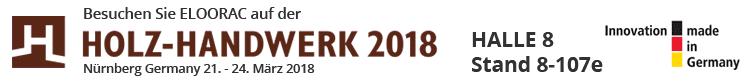 Eloorac Transportgestelle auf der Holz-Handwerk Messe in Nürnberg 2018 in Halle 8 Stand Nummer 107e oder auch 8-107e. Neben verschiedenen Transportgestellen werden auch Glasböcke auf Europalette, Glastransportgestelle, Fenstertransportgestelle, Rollen für Paletten bzw. unter Epal Paletten gezeigt. Die Holz-Handwerk Messe läuft paralell zur Fensterbau Frontale.