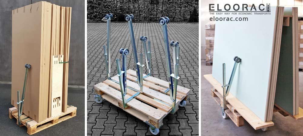 Eloosafe Spannklemme Klemmsicherungen können an viele verschiedene Stellen an Europaletten oder Einwegpaletten platziert werden.