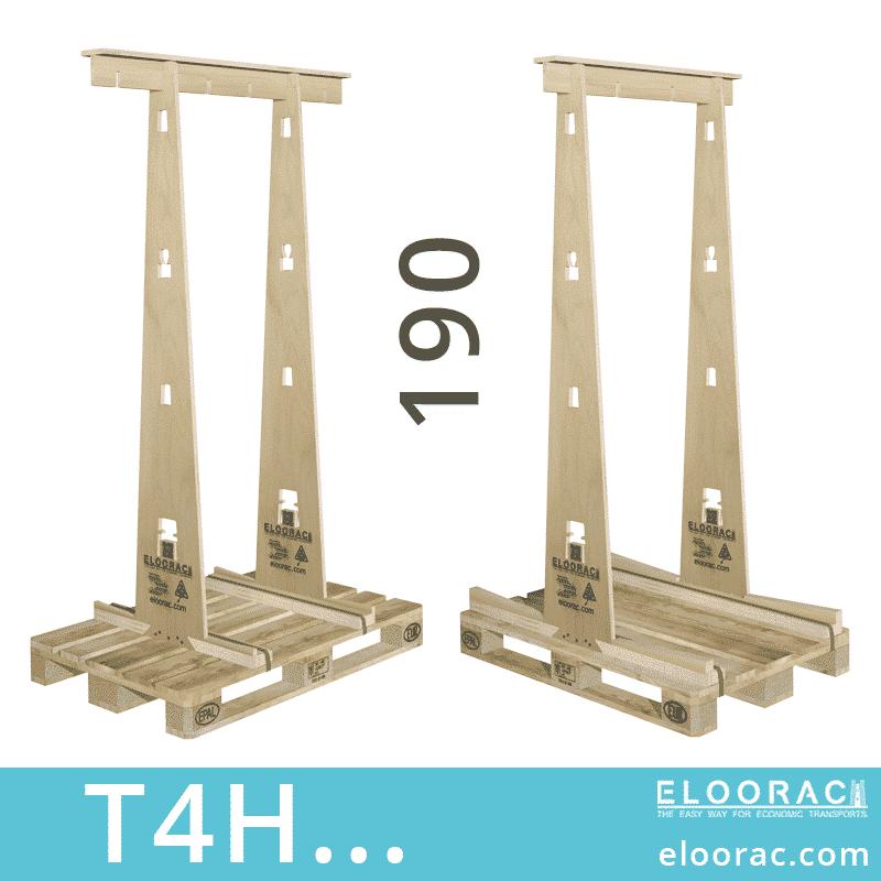 Eloorac Transport Gestell T4H... Genutzt wird dieses Rack für den Transport von Fenstern, Fassaden Elementen, Blech, Holzplatten, Naturstein und vor allem für Glas. Also ein Transportbock für hohe und flache Produkte.